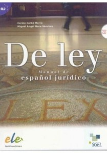 De ley manual de espanol juridico książka + CD